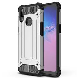 King Kong Armor Premium Shockproof Dual Layer Rugged Hard Cover for Samsung Galaxy A10s - White