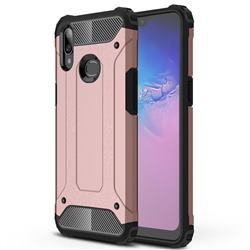 King Kong Armor Premium Shockproof Dual Layer Rugged Hard Cover for Samsung Galaxy A10s - Rose Gold