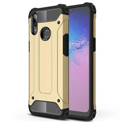 King Kong Armor Premium Shockproof Dual Layer Rugged Hard Cover for Samsung Galaxy A10s - Champagne Gold