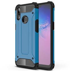 King Kong Armor Premium Shockproof Dual Layer Rugged Hard Cover for Samsung Galaxy A10s - Sky Blue