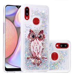 Seashell Owl Dynamic Liquid Glitter Quicksand Soft TPU Case for Samsung Galaxy A10s