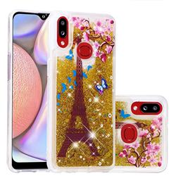 Golden Tower Dynamic Liquid Glitter Quicksand Soft TPU Case for Samsung Galaxy A10s