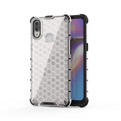 Honeycomb TPU + PC Hybrid Armor Shockproof Case Cover for Samsung Galaxy A10s - Transparent