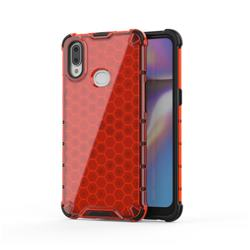 Honeycomb TPU + PC Hybrid Armor Shockproof Case Cover for Samsung Galaxy A10s - Red