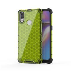 Honeycomb TPU + PC Hybrid Armor Shockproof Case Cover for Samsung Galaxy A10s - Green