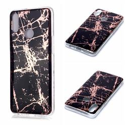 Black Galvanized Rose Gold Marble Phone Back Cover for Samsung Galaxy A10s