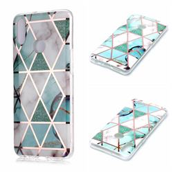 Green White Galvanized Rose Gold Marble Phone Back Cover for Samsung Galaxy A10s