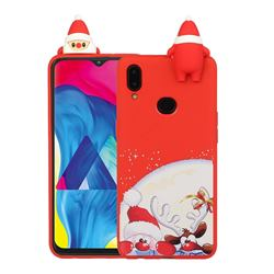 Santa Claus Elk Christmas Xmax Soft 3D Doll Silicone Case for Samsung Galaxy A10s