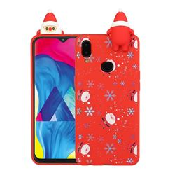 Snowflakes Gloves Christmas Xmax Soft 3D Doll Silicone Case for Samsung Galaxy A10s