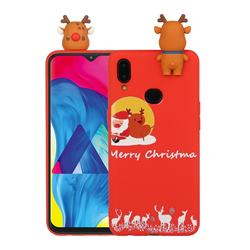 Moon Santa and Elk Christmas Xmax Soft 3D Doll Silicone Case for Samsung Galaxy A10s