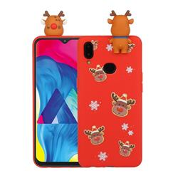 Elk Snowflakes Christmas Xmax Soft 3D Doll Silicone Case for Samsung Galaxy A10s