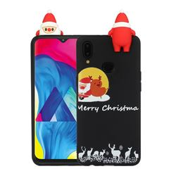 Santa Elk on Moon Christmas Xmax Soft 3D Doll Silicone Case for Samsung Galaxy A10s