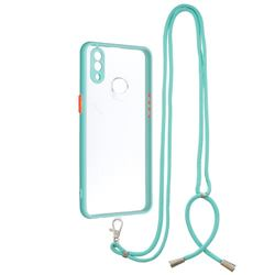 Necklace Cross-body Lanyard Strap Cord Phone Case Cover for Samsung Galaxy A10s - Blue