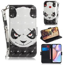 Angry Bear 3D Painted Leather Wallet Phone Case for Samsung Galaxy A10s