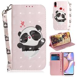 Heart Cat 3D Painted Leather Wallet Phone Case for Samsung Galaxy A10s
