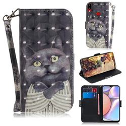 Cat Embrace 3D Painted Leather Wallet Phone Case for Samsung Galaxy A10s