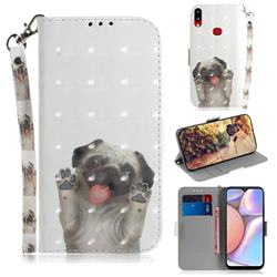 Pug Dog 3D Painted Leather Wallet Phone Case for Samsung Galaxy A10s