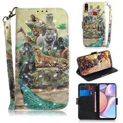 Beast Zoo 3D Painted Leather Wallet Phone Case for Samsung Galaxy A10s