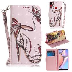 Butterfly High Heels 3D Painted Leather Wallet Phone Case for Samsung Galaxy A10s