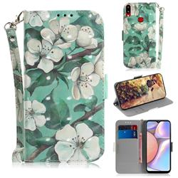 Watercolor Flower 3D Painted Leather Wallet Phone Case for Samsung Galaxy A10s