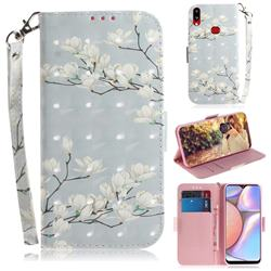Magnolia Flower 3D Painted Leather Wallet Phone Case for Samsung Galaxy A10s