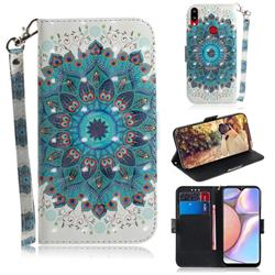 Peacock Mandala 3D Painted Leather Wallet Phone Case for Samsung Galaxy A10s
