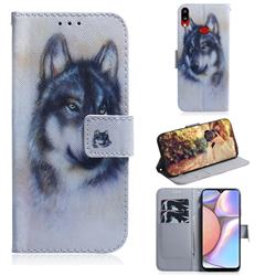Snow Wolf PU Leather Wallet Case for Samsung Galaxy A10s