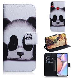 Sleeping Panda PU Leather Wallet Case for Samsung Galaxy A10s