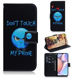 Not Touch My Phone PU Leather Wallet Case for Samsung Galaxy A10s