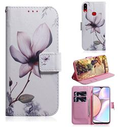 Magnolia Flower PU Leather Wallet Case for Samsung Galaxy A10s