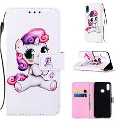 Playful Pony Matte Leather Wallet Phone Case for Samsung Galaxy A10s