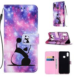 Panda Baby Matte Leather Wallet Phone Case for Samsung Galaxy A10s
