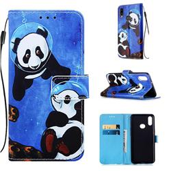 Undersea Panda Matte Leather Wallet Phone Case for Samsung Galaxy A10s
