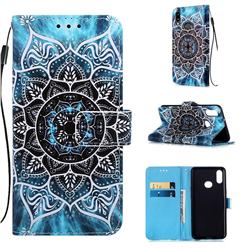 Underwater Mandala Matte Leather Wallet Phone Case for Samsung Galaxy A10s