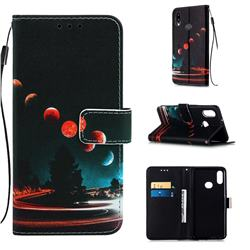 Wandering Earth Matte Leather Wallet Phone Case for Samsung Galaxy A10s