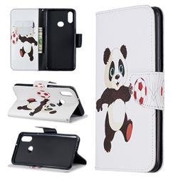 Football Panda Leather Wallet Case for Samsung Galaxy A10s