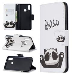Hello Panda Leather Wallet Case for Samsung Galaxy A10s