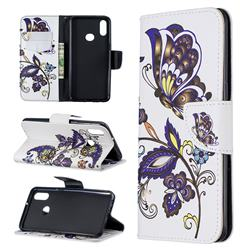 Butterflies and Flowers Leather Wallet Case for Samsung Galaxy A10s