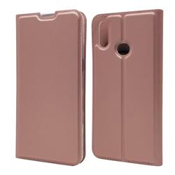 Ultra Slim Card Magnetic Automatic Suction Leather Wallet Case for Samsung Galaxy A10s - Rose Gold