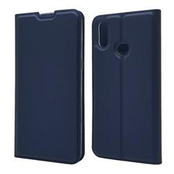 Ultra Slim Card Magnetic Automatic Suction Leather Wallet Case for Samsung Galaxy A10s - Royal Blue