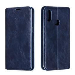 Retro Slim Magnetic Crazy Horse PU Leather Wallet Case for Samsung Galaxy A10s - Blue