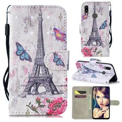 Paris Tower 3D Painted Leather Wallet Phone Case for Samsung Galaxy A10s