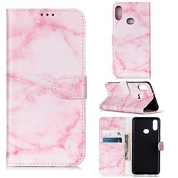 Pink Marble PU Leather Wallet Case for Samsung Galaxy A10s