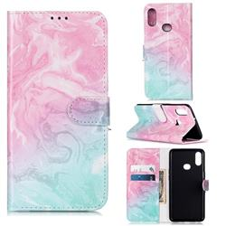 Pink Green Marble PU Leather Wallet Case for Samsung Galaxy A10s