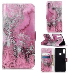 Pink Seawater PU Leather Wallet Case for Samsung Galaxy A10s