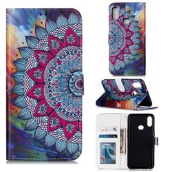 Mandala Flower 3D Relief Oil PU Leather Wallet Case for Samsung Galaxy A10s