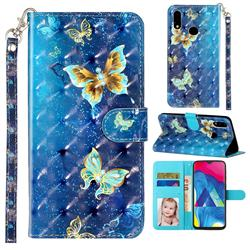 Rankine Butterfly 3D Leather Phone Holster Wallet Case for Samsung Galaxy A10s