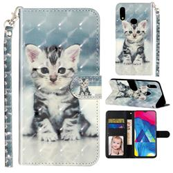 Kitten Cat 3D Leather Phone Holster Wallet Case for Samsung Galaxy A10s