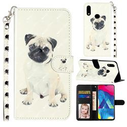 Pug Dog 3D Leather Phone Holster Wallet Case for Samsung Galaxy A10s