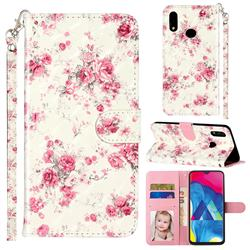 Rambler Rose Flower 3D Leather Phone Holster Wallet Case for Samsung Galaxy A10s